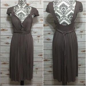 Anthropologie C. keer Gray Country Mile Midi Dress